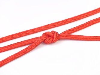 帯締めゆるぎ組(柿色)正絹の画像