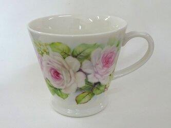 薔薇と小花のマグカップ(1)の画像