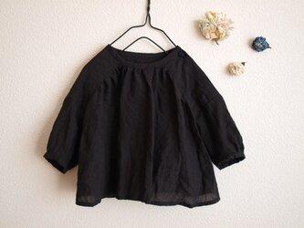 LINEN ギャザーブラウス *ブラック* size80 の画像