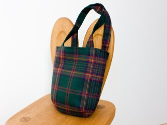 タータンチェックのお散歩バッグ【ETRICK】の画像