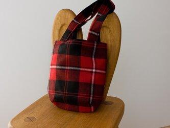 タータンチェックのお散歩バッグ【Cunningham】の画像