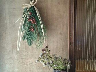 フレッシュグリーンのクリスマススワッグの画像