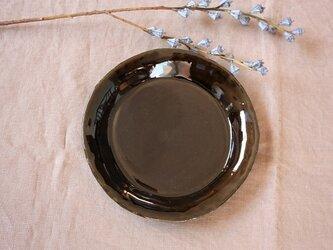 hirahiraまる皿(飴色)の画像