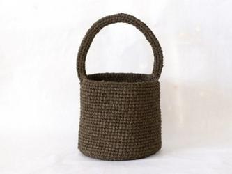 裂き編みバッグ 取り外せるファー付きバッグ(バケツ型)の画像