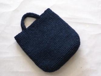 裂き編みバッグ 取り外せるファー付き(トートバッグスタイル)の画像