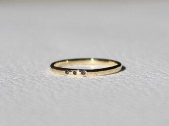 Tres sapphire Ring / K18YGの画像