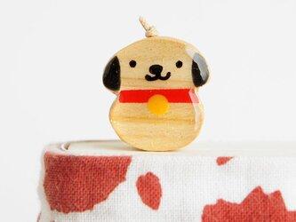 木の犬しおり(戌)(ブックマーカー)の画像