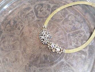 ヴィンテージネックレス クリアオーロラビジュー vintage necklace <NC-MS3>の画像