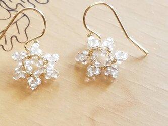 snowflake pierce & earingの画像