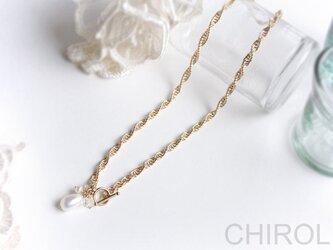 淡水パール と 水晶の チェーン ネックレス/ 14kgfの画像