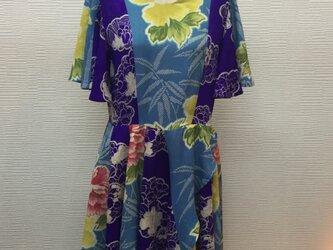 正絹2枚の着物でワンピース【着物リメイク】の画像