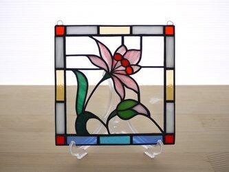 ステンドグラス ミニパネル 野花 15cmの画像