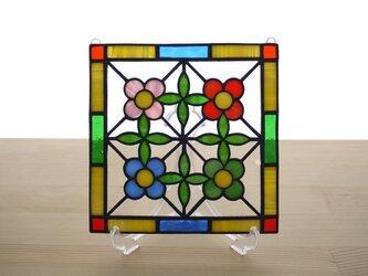 ステンドグラス ミニパネル 花壇 15cmの画像