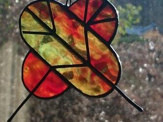 ステンドグラス  お正月飾り 羽 3の画像