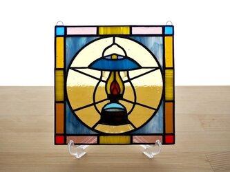 ステンドグラス ミニパネル ランタン 15cmの画像