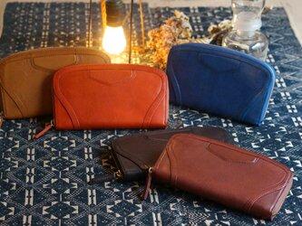 Italy Leather クラッチ財布の画像