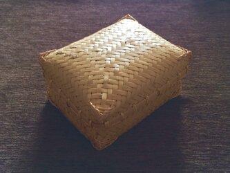 網代編み 竹弁当箱の画像