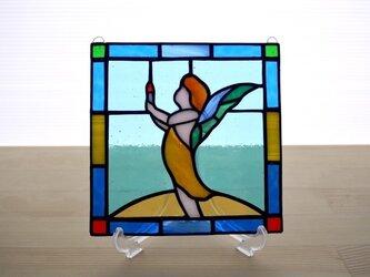 ステンドグラス ミニパネル フェアリー 15cmの画像