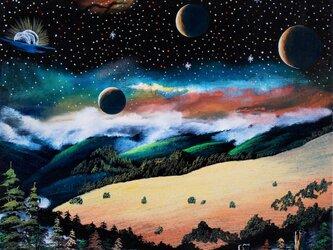 宇宙の草原の画像
