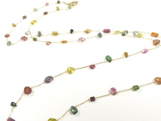 K18 tourmaline long necklaceの画像
