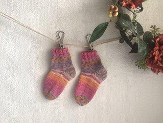 ★☆手編みのベビー靴下(6ヶ月〜1歳用)(洗濯機で洗えます♪)☆★の画像