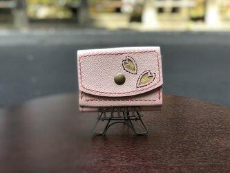 三つ折り財布 桜柄の画像
