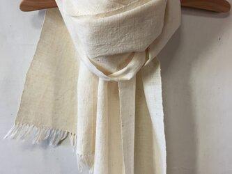 手紡ぎ木綿のストールの画像