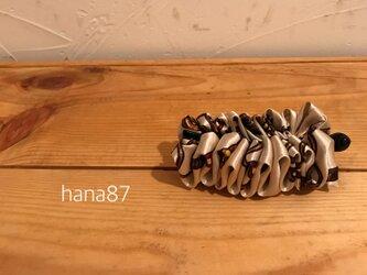 大人っぽい スカーフ柄のバナナクリップの画像