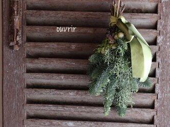 真冬のスワッグ(中) グリーンの画像