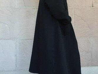 《再再販》ダンボールニット リバーシブルコート 黒×ネイビー 受注製作の画像