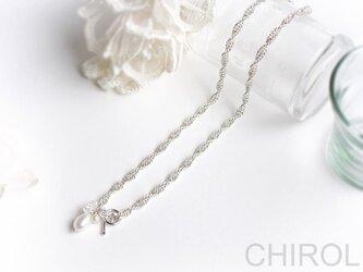 淡水パール と 水晶の チェーン ネックレス/ SV925の画像