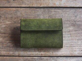 三つ折り財布 [becco] オリーブの画像