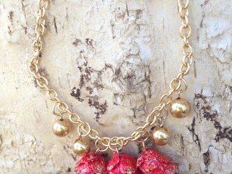 レッドミニツガ ゴールドブレスレットの画像