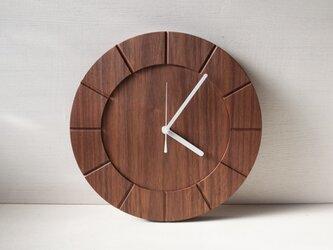 木の時計01(Φ300) No6 | ウォールナットの画像