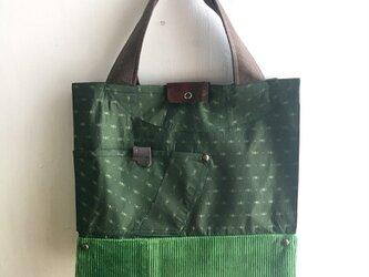 tote bag/ヴィンテージ サテンのトートバッグ    ■tf-308の画像