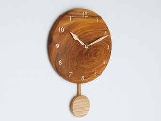 木製 振り子時計 ケヤキ材4の画像