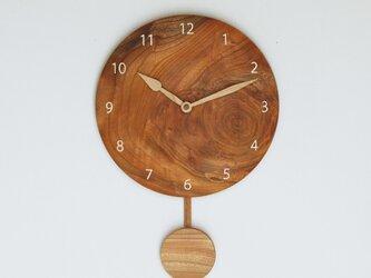 木製 振り子時計 ケヤキ材6の画像