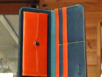 シンプルな長財布B No.8 イタリアンレザーの画像