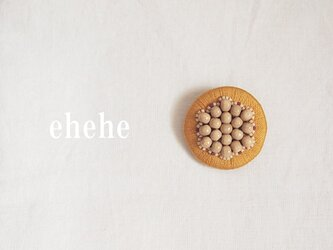 minori-caramel刺繍ブローチの画像