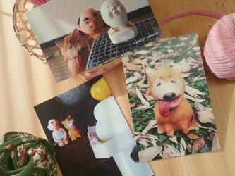 ポストカード 『ワンちゃんと冬』3枚セットの画像