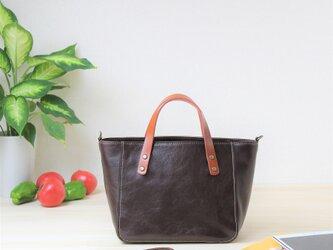 牛革の2WAYバッグ チョコの画像