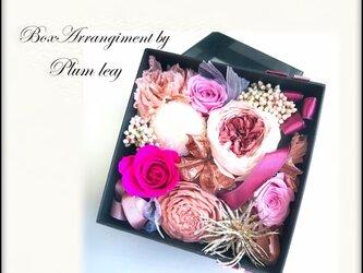 プリザーブドBox ローズピンクの画像