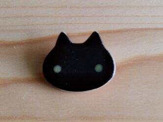猫ブローチ(黒)の画像
