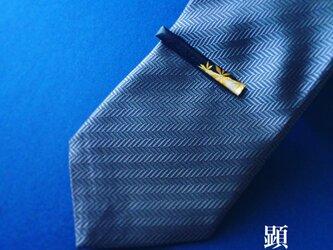 銀 御旗 -Shirogane Mihata-(ネクタイピン)【和柄アートアクセサリー】の画像