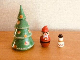 クリスマスマトリョーシカの画像
