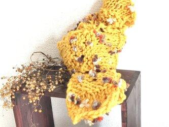 お花のマフラー #マスタードイエローの画像