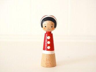 [conocokeshi]指人形・hand puppet[30]赤ふわ。ずきんの画像