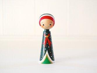 [conocokeshi]指人形・hand puppet[31]クリスマス☆ずきんの画像