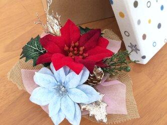 クリスマスのテーブル飾り☆箱入りオーナメントの画像