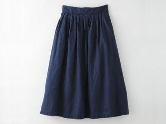 【Lサイズ】[ボタニカルダイ・ログウッド染め]麻のスカート 8612-05014-11の画像